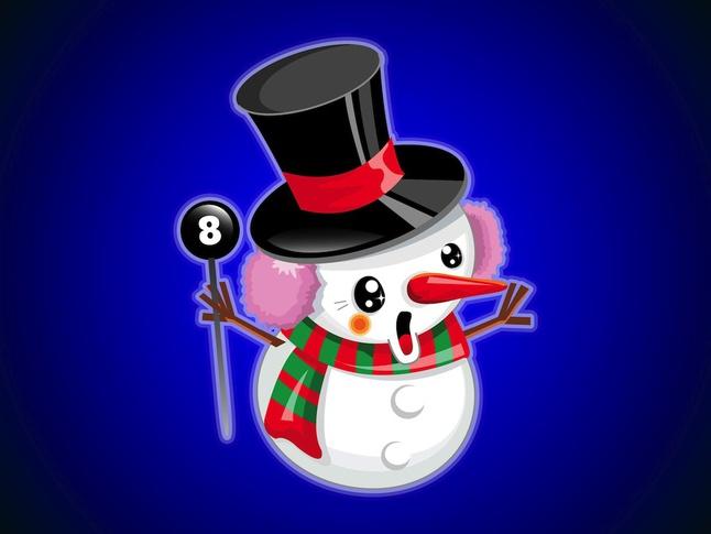 Cute Snowman vector free