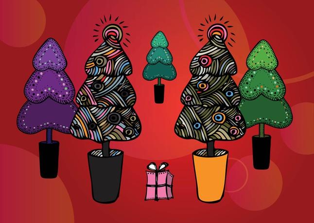 Free Christmas Tree Illustrations vector