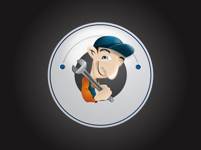 Plumbing Logo vector free