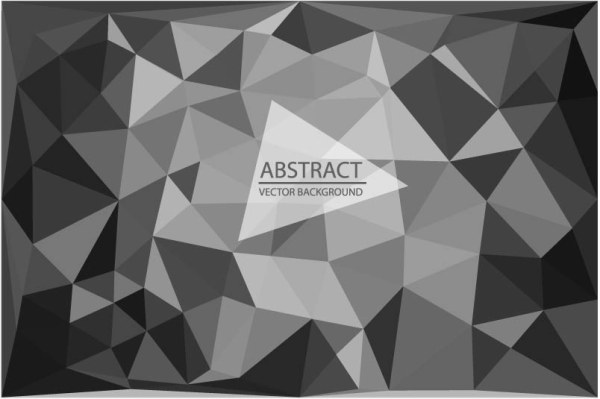 Abstract triangle embossment vector background 05 free