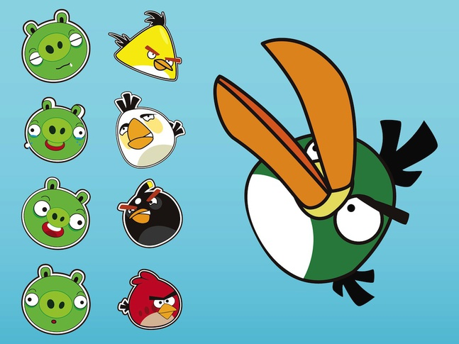 Angry Birds Vectors free