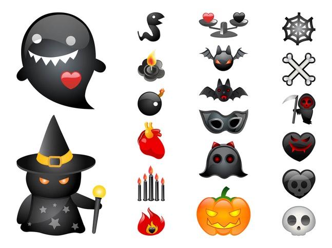 Cartoon Halloween Graphics vector free
