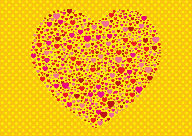 Fun Hearts vector free
