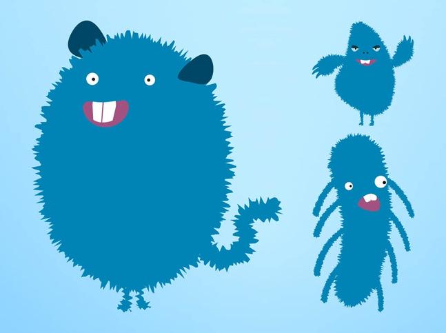 Happy Vector Monsters free