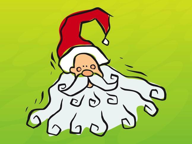 Santa Doodle vector free
