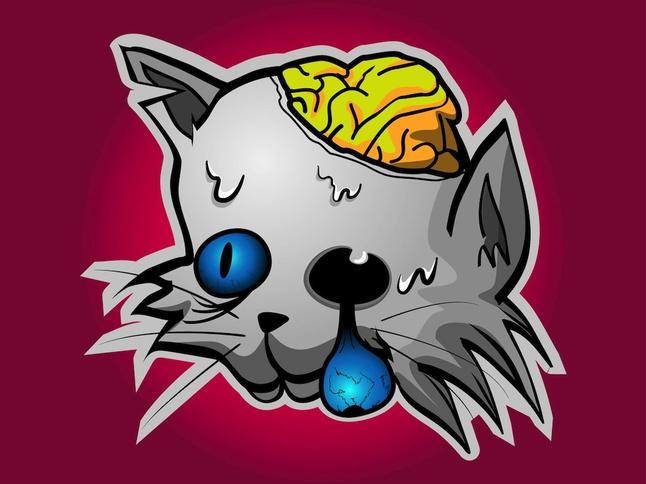 Zombie Cat vector free