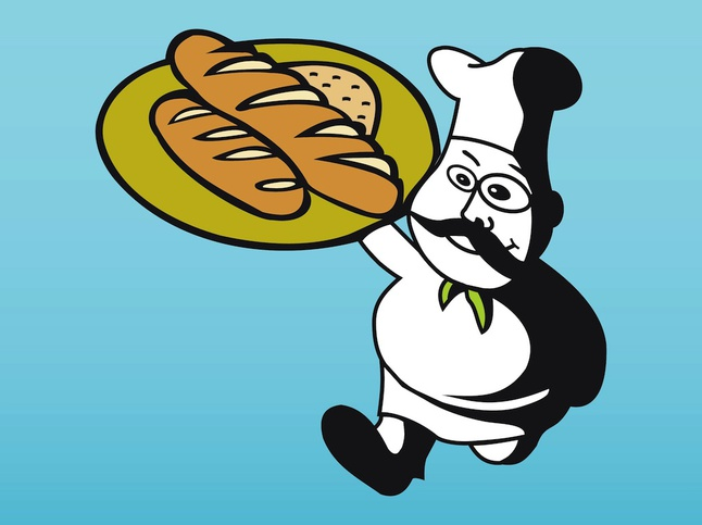 Baker Cartoon vector free