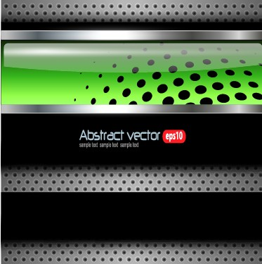 Bright chrome metal background vector graphics 01 free