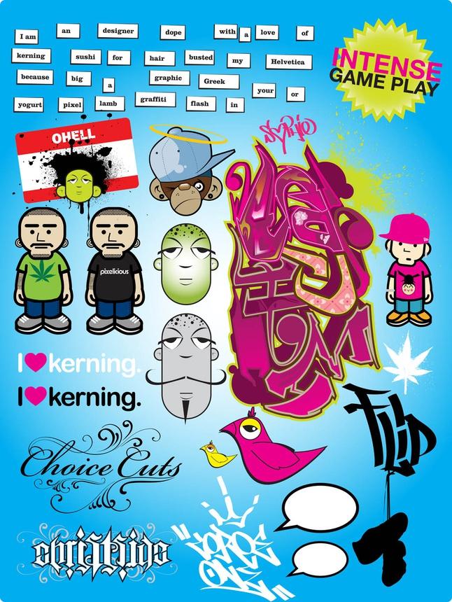 Cool Graffiti Poster vector free