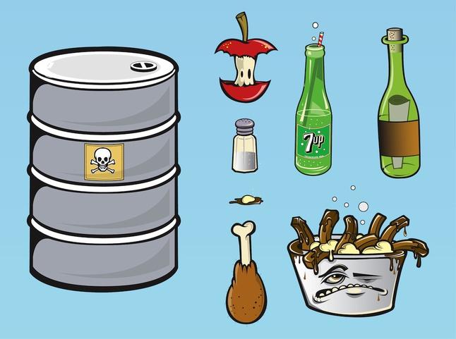 Food Waste vector free