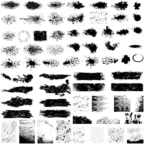 Grunge background elements creative vector 01 free
