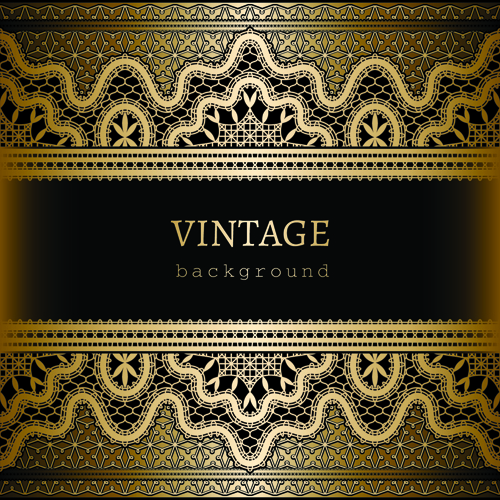 ornate lace and vintage background vector graphics 03 free