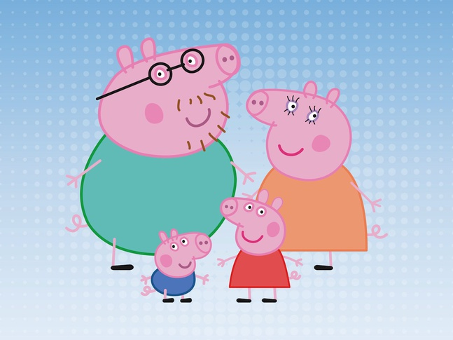 Pig Family vector free