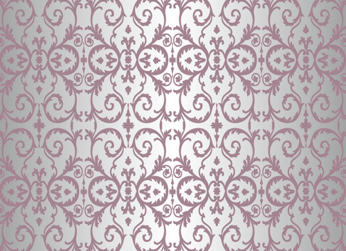Purple floral ornament pattern backgrounds vector 02 free
