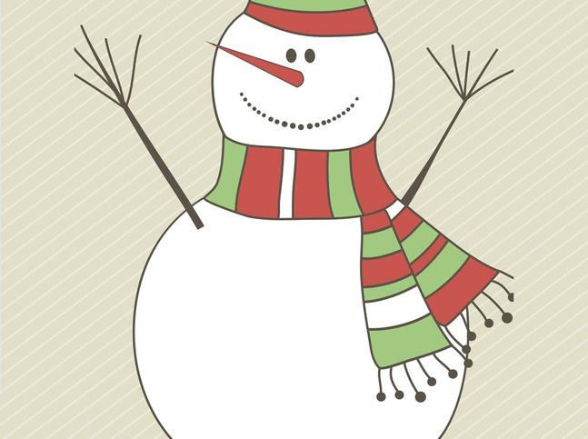 Snowman Vector Graphics free