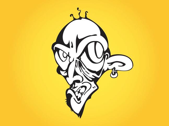 Evil Cartoon Man vector free