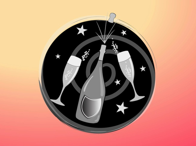 New Year Icon vector free