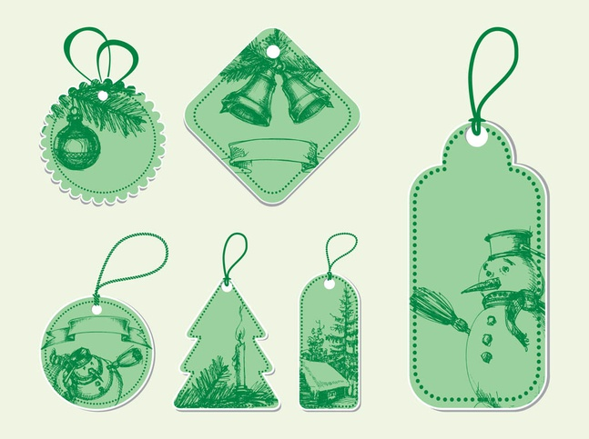 Vintage Christmas Vectors free