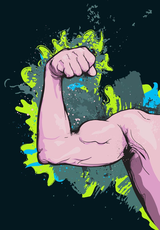 Arm Muscles vector free