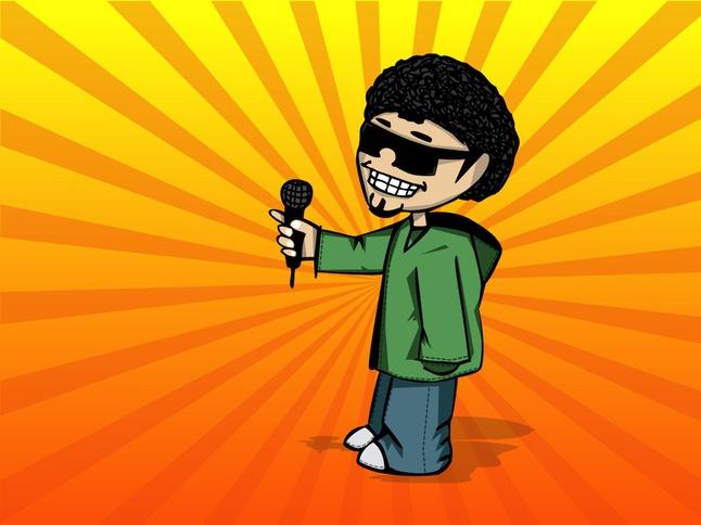 Cool Guy Cartoon vector free