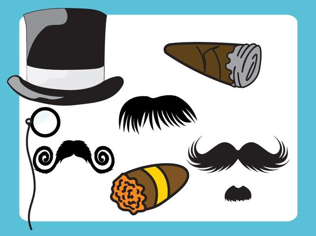 English Gentlemen Cartoons vector free