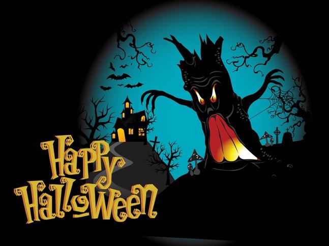 Happy Halloween Background vector free