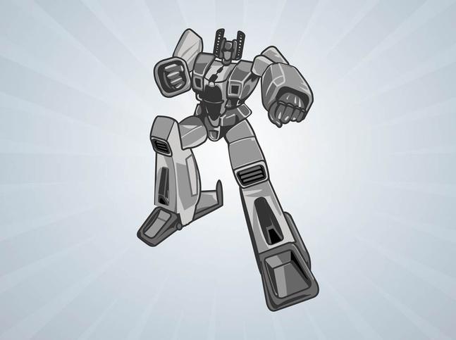 Silver Robot Vector free