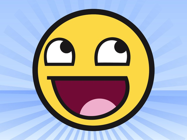 Awesome Face Meme vector free