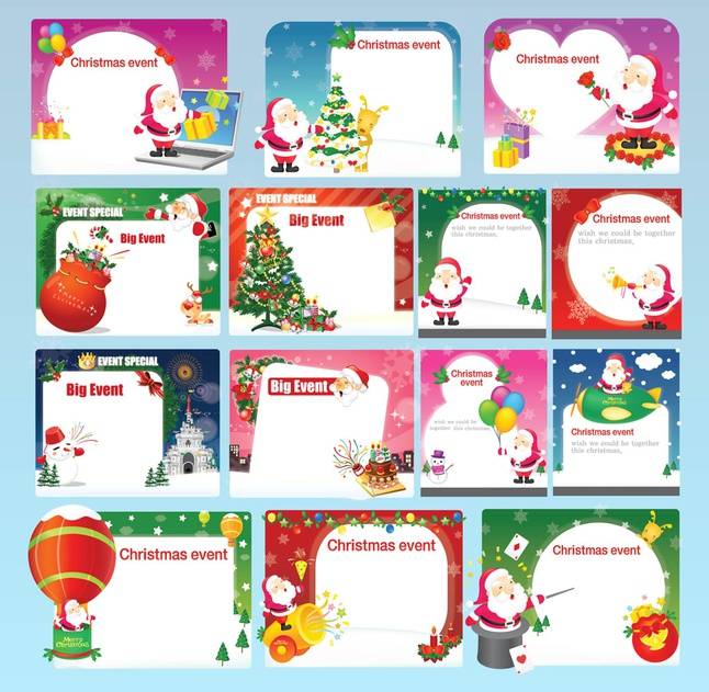 Free Christmas Invitations vector