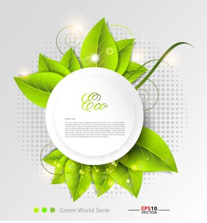 Green world creative Eco background vector 02 free