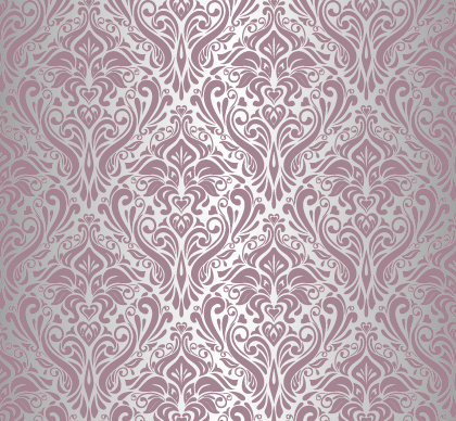 Purple floral ornament pattern backgrounds vector 05 free