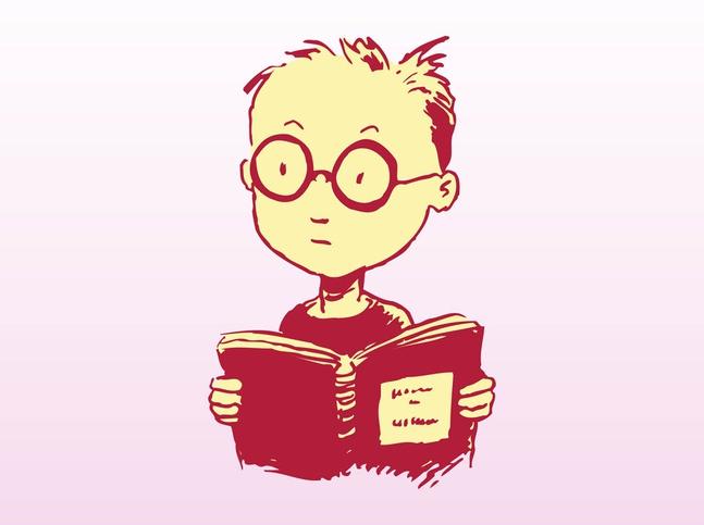 Reading Kid vector free