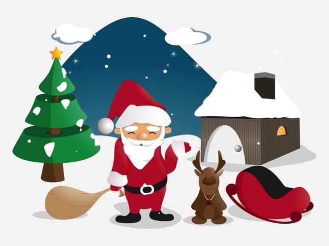 Santa Illustration vector free