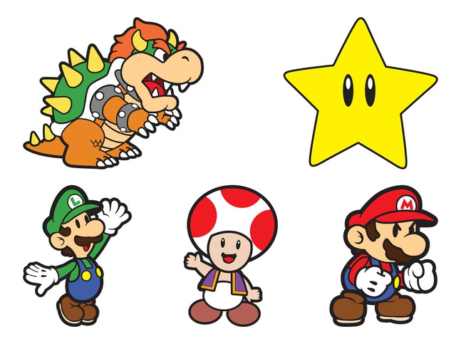 Super Mario Characters vector free