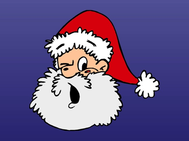 Surprised Santa vector free