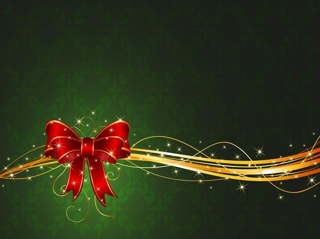 Vector Christmas Ribbon free