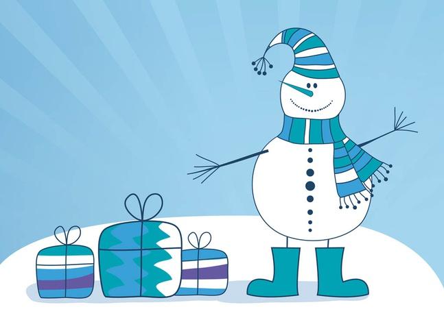 Vector Snowman free