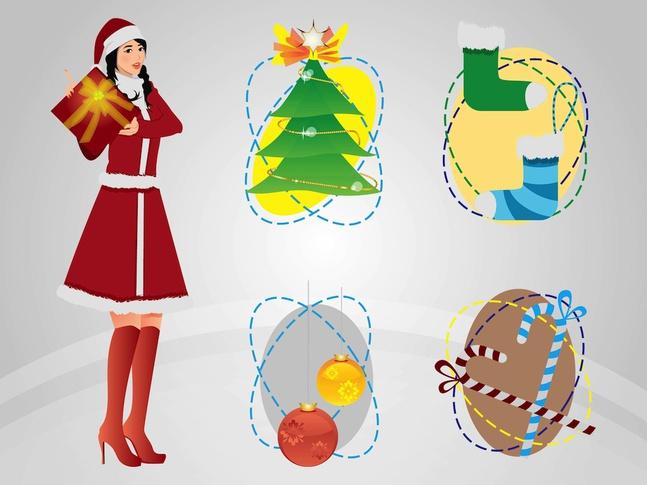 Christmas Art vector free