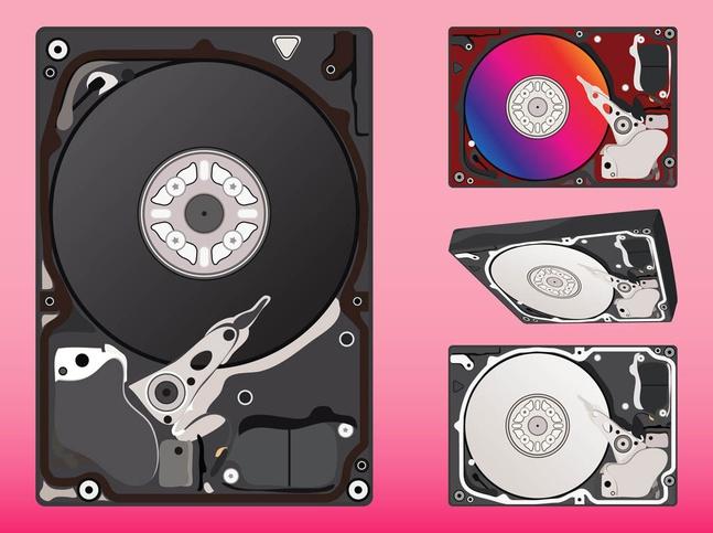 Hard Disks Graphics vector free