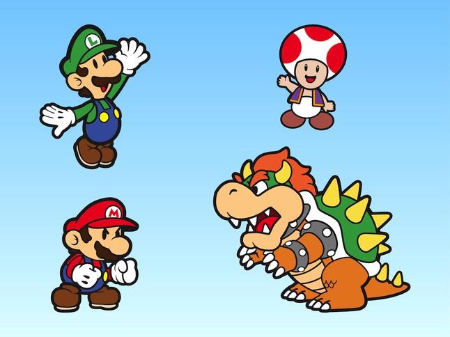 Super Mario Bros Characters vector free