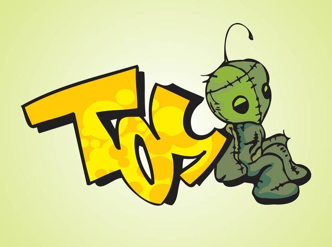 Toy Graffiti vector free