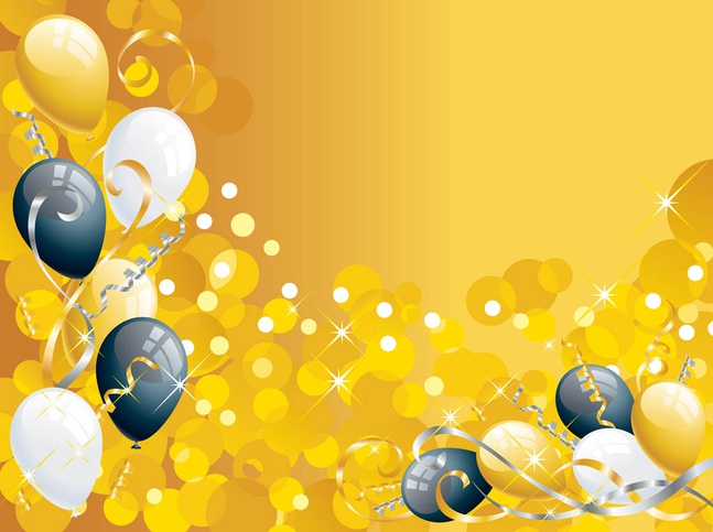 Background With Balloons vector free