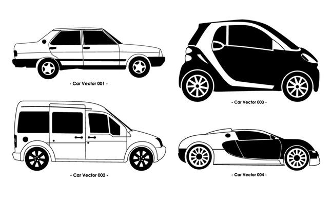 Car Set vector free