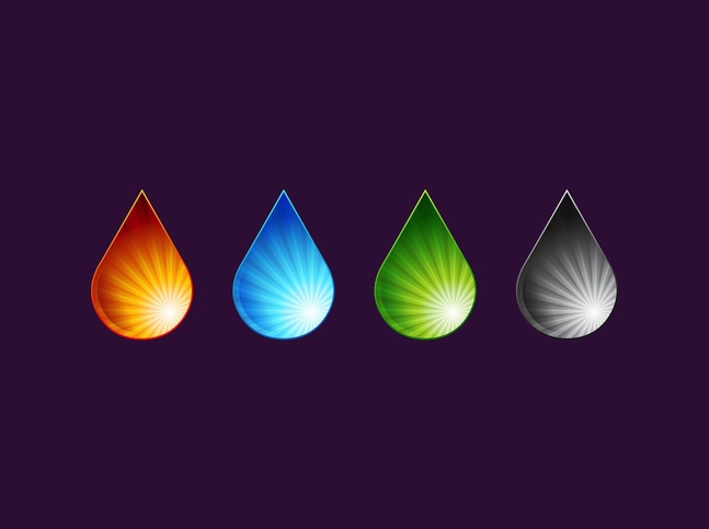 Color Drops vector free