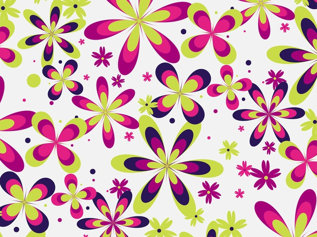 Cute Floral Pattern Vector free