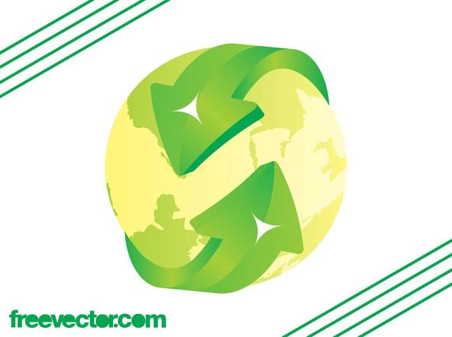 Eco Globe Vector free