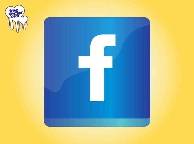 Facebook Icon Graphics vector free