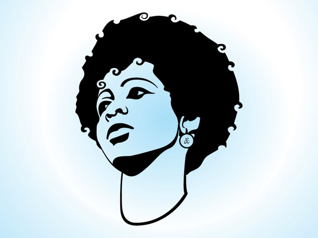 Girl With Afro Hair vector free