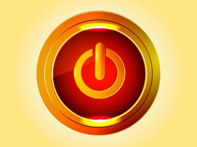 Golden Power Button vector free