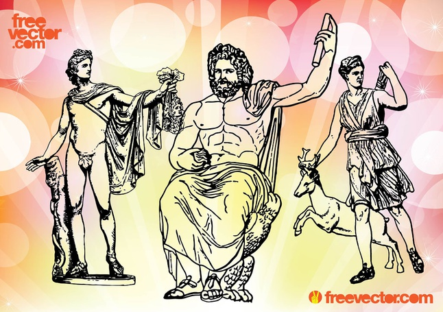 Greek Gods vector free